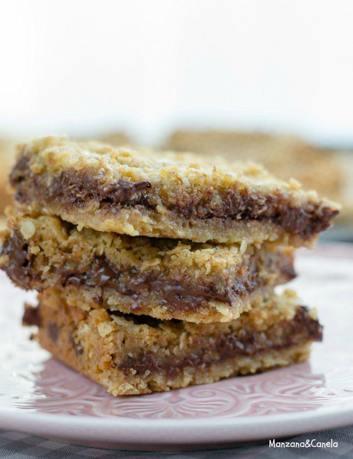 Carmelitas (galletas de avena, chocolate y toffe)