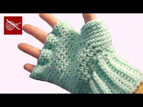Crochet Fingerless Gloves How To Crochet Geek - YouTube... she is my favorite to follow when I am crocheting a new thing! She is clear and concise