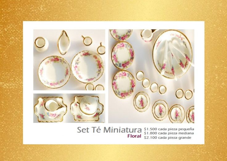 Set Minitaura Tea Cup Floral. Tienda MyFavorite_4d, only beautiful things www.facebook.com/myfavorite4d