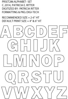Urban Elementz, Patricia Ritter, e2e, numbers, letters