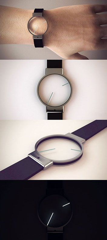 The title minimal really suits this concept design that an unknown designer by the name of Roderick (from Malta) submitted to Tokyoflash. the future of time