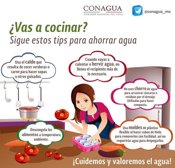 ¿Preparas la comida? Checa los #tips para ahorrar el agua   #CuidemosYValoremosElAgua @conagua_mx
