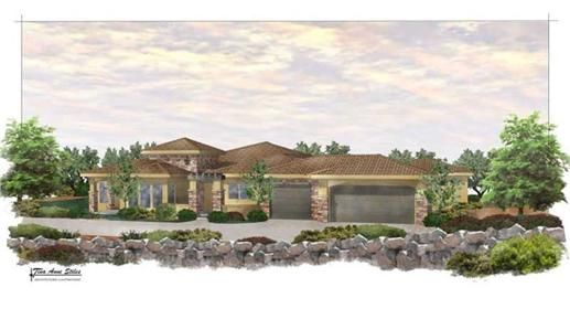This southwestern Mediterranean style home plan has comfort and luxury written all over it. The house plans feature both formal and in-formal areas for you and your guests. The large open kitchen with an island serves both the dining room and the great room.  The covered patio behind offers cool shade in the summer, and shelter from inclement weather.  Beyond is a spacious casita for guests and perfect for a mother in-law suite.  The master suite is private with a large master bathroom and…