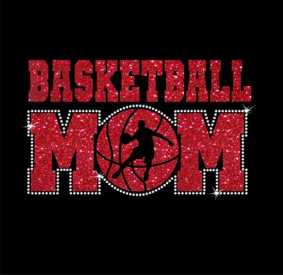 Brillo y Rhinestone baloncesto mamá camisa de por RedheadedMonkeys