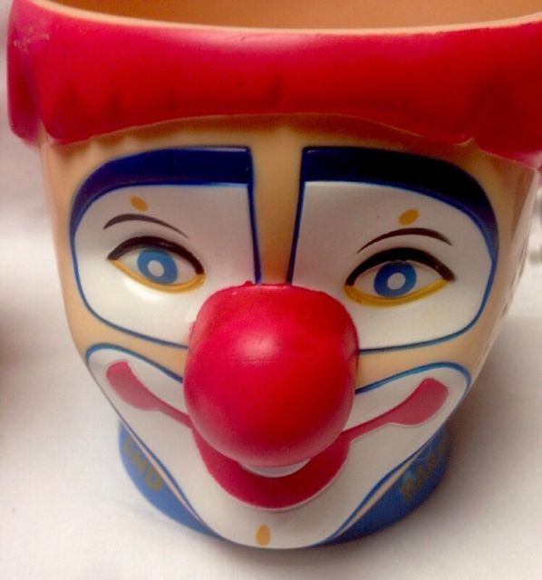 2 VIntage Ringling Bros and Barnum & Bailey Circus Clown Plastic Mugs Cups | eBay