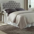 Martinique Full/Queen-Size Upholstered Adjustable Headboard Panel with Solid Wood Frame and Button-Tufted Design, Grey