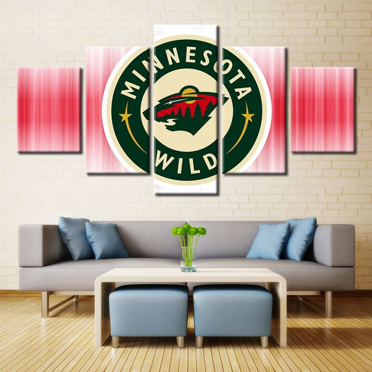 Minnesota Wild Ice Hockey Logo (Red)
