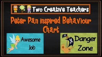 Two Creative Teachers - Peter Pan Theme Behaviour Management Chart This product contains posters that include the words: outstanding effort, awesome job, great work, ready to learn, stop and think, danger zone, teacher choice and parent contact. If you like the theme and have different words in mind, please email us and we can adapt and send you a copy.How To Use This Resource:Display this in the classroom or hang it in the room.