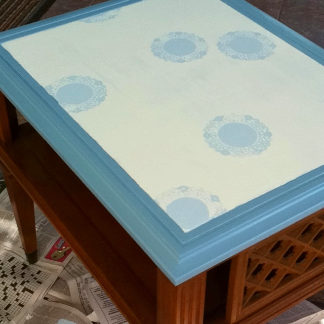 Painted the top of my nightstand :)