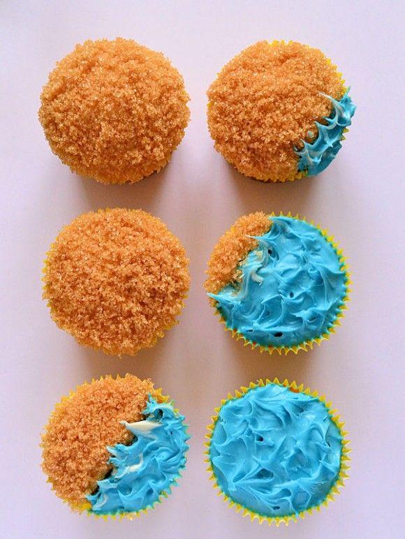 Sandy beach cakes