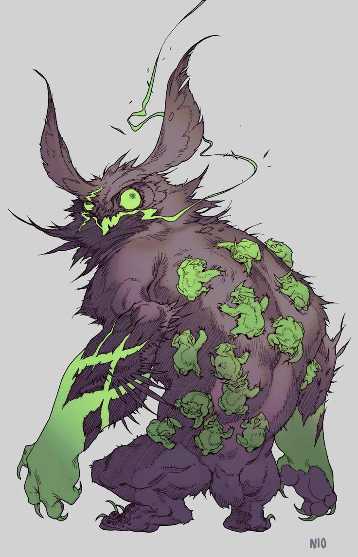 ArtStation - Green owlbear, NI O