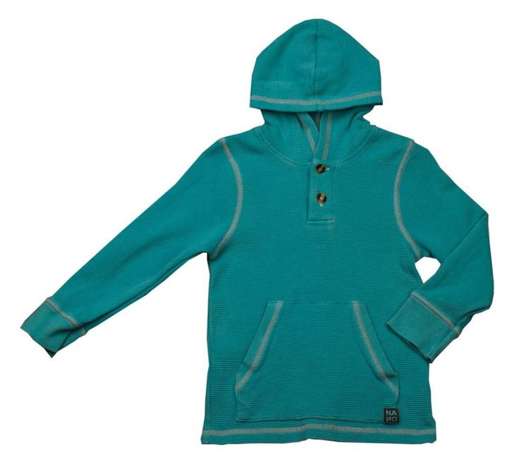 Nano Bay Green Thermal Hoodie - Boy