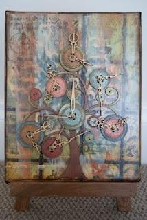 clock button tree by michelle logan