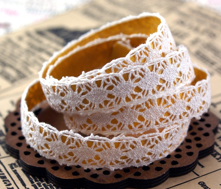 handmade peel-and stick cotton lace