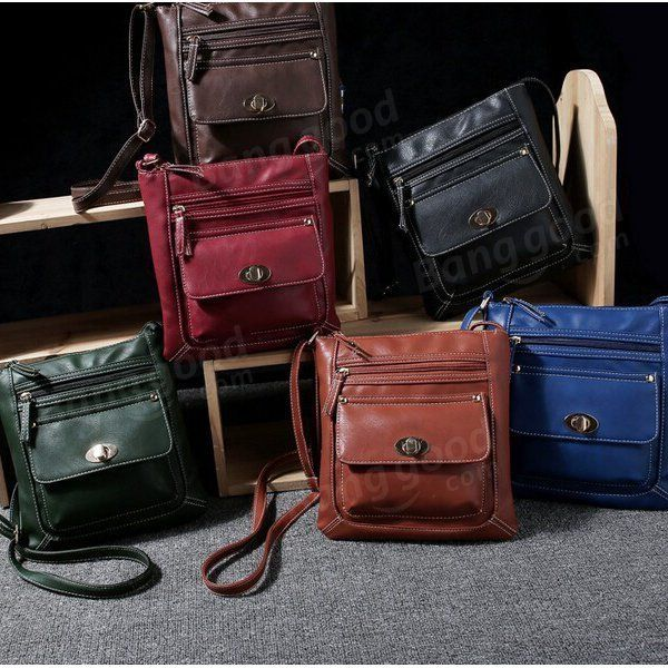 Women PU Leather Crossbody Bag Shoulder Bag - US$12.99