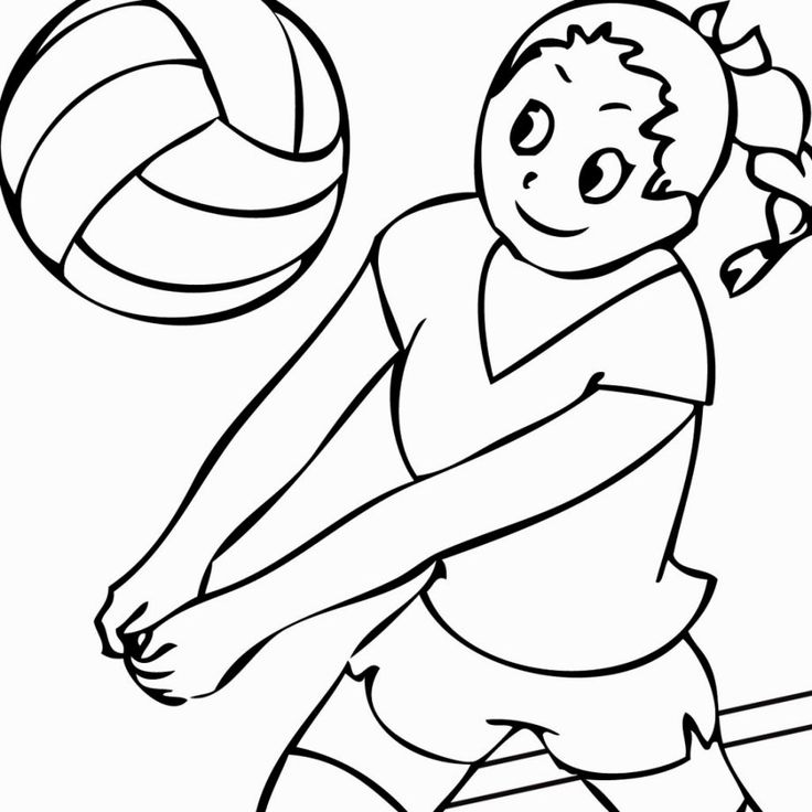 Volleyball Coloring Pages   Kleurplaten, Volleybal, Sport