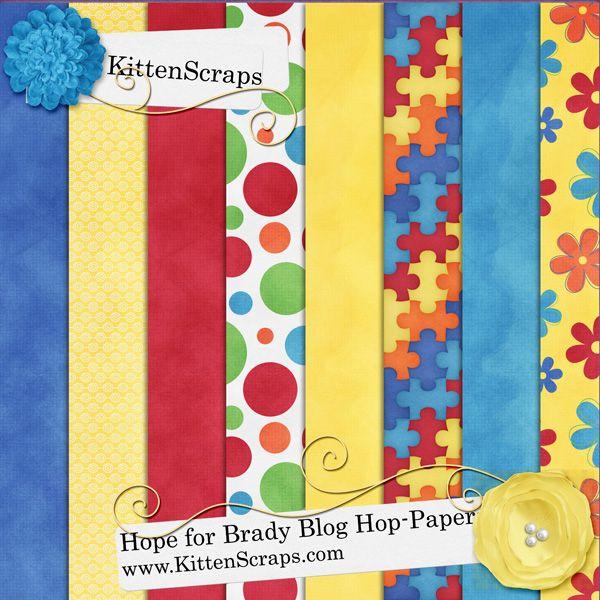 Hope for Brady Blog Hop Freebie - KittenScraps & Friends Forum, Blog Hop Freebie moved to the forum, created by KittenScraps