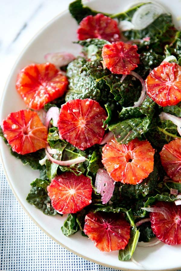 KALE AND BLOOD ORANGE SALAD - a house in the hills