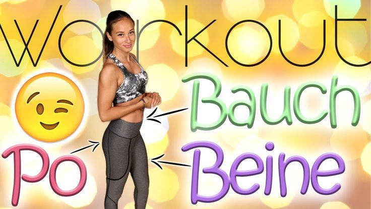 Bauch Beine Po Workout um zuhause mitzumachen! Einfach auf die Matte und hol dir schöne Beine, einen knackigen Po und einen flachen Bauch Für mehr Workouts d...