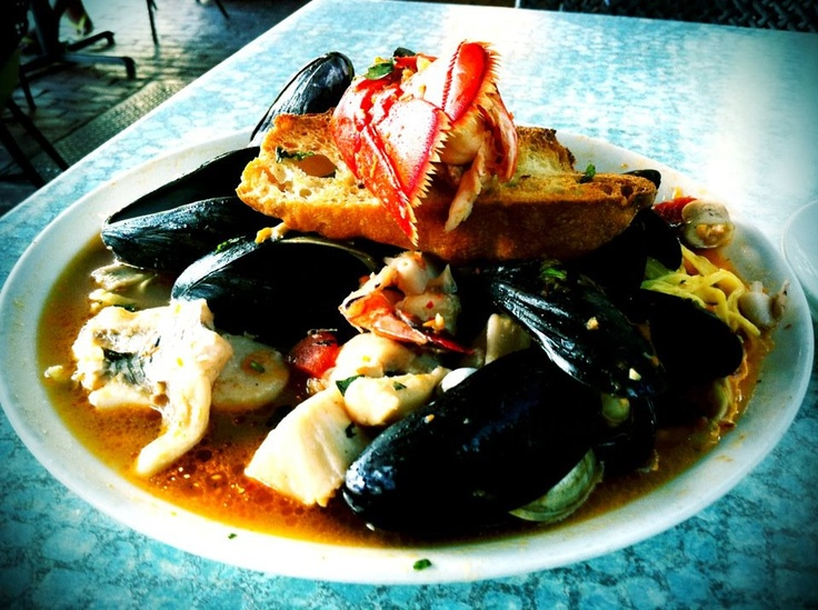 the best seafood dish I've ever had (Cioppino: lobster, shrimp ...