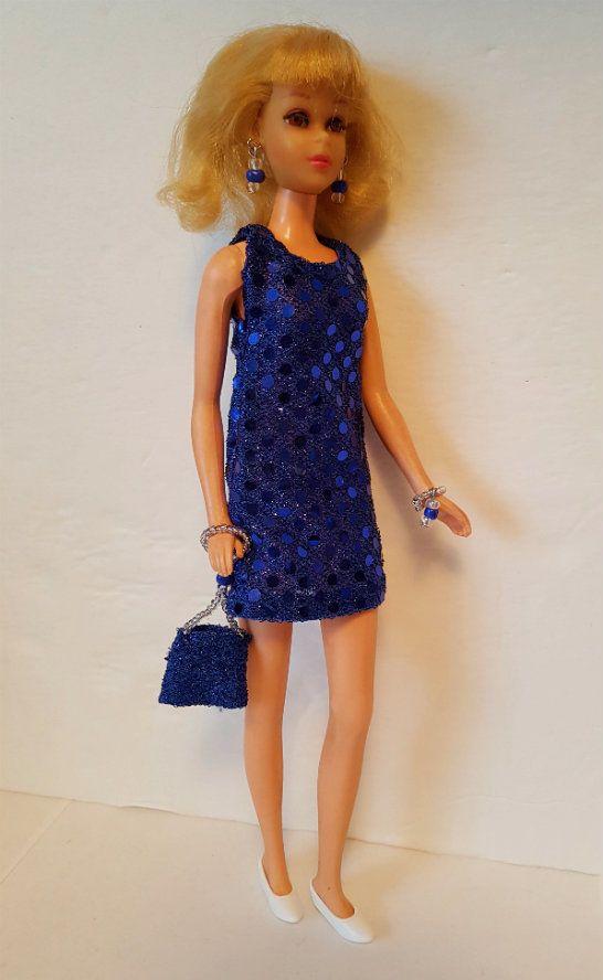FRANCIE DOLL CLOTHES Blue Dress, Purse & Jewelry Twiggy HM Fashion  NO DOLL d4e #DOLLS4EMMMA #Clothing