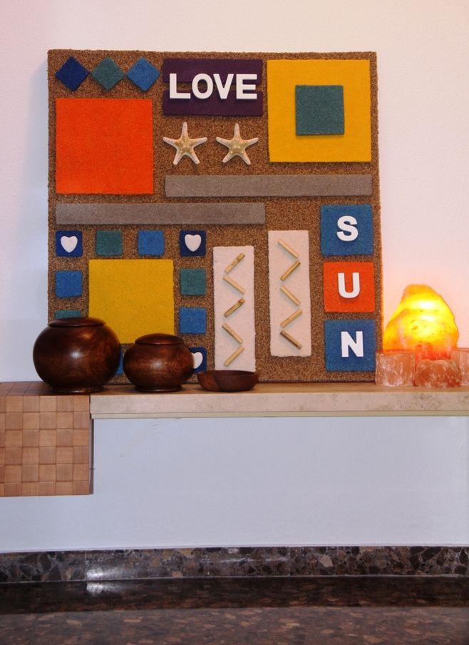 Ta Chan!!! Aquí está el Cuadro ya terminado… Que os parece mi nuevo diseño??? Está INSPIRADO en la playa, las vacaciones, el verano, el sol, la arena, etc…Todo un cúmulo de SENSACIONES Y ENERGÍA POSITIVA!!! www.danamiarte.com #cuadros #ByAnaOval #Handmade #decohome #desing #casa #creaciones #originales #decorar #ambientes #espacios #home #interiores #interiorismo