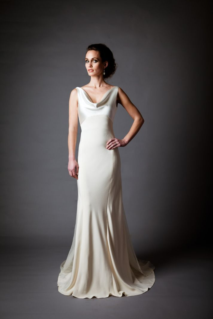 Best of backless wedding gowns dresses to adore part 4 for Backless satin wedding dress