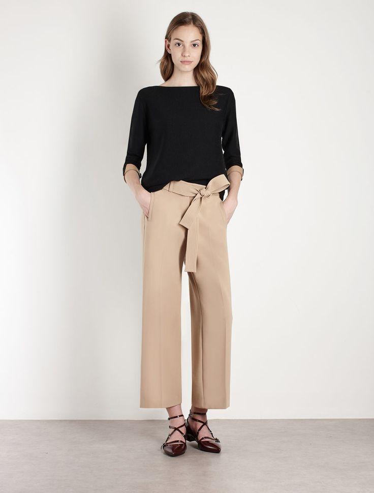 Pantaloni con fusciacca, cammello - Marella