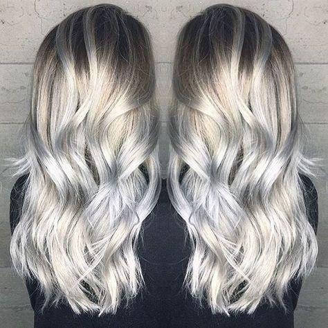 56 Ideas hair color blonde ombre silver dark brown