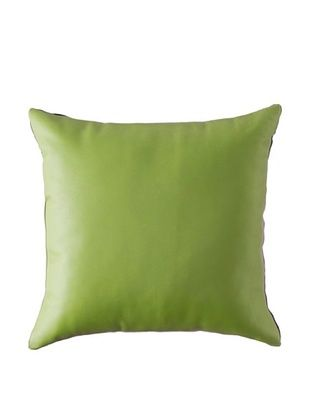 Natural Brand Sienna Leather Pillow, Lime, 16