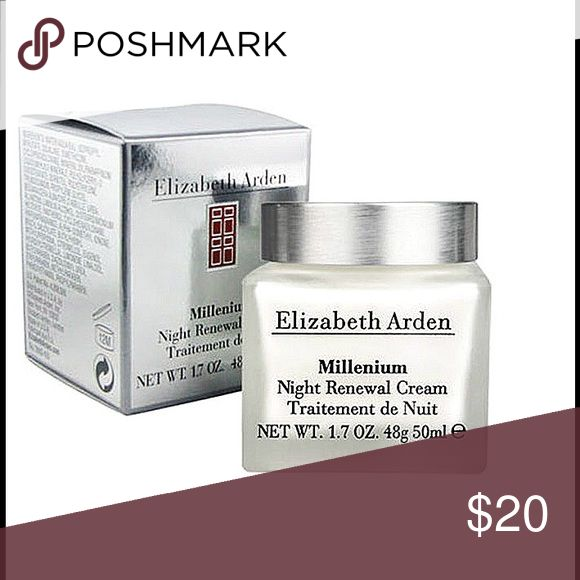Elizabeth Arden Millenium Night Renewal Cream For all skin types. 1.7 oz Elizabeth Arden Makeup
