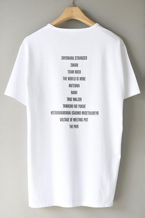 くるり×ラッド ミュージシャン、ツアー会場でコラボTシャツ発売 - 背面には全アルバムタイトルの写真4