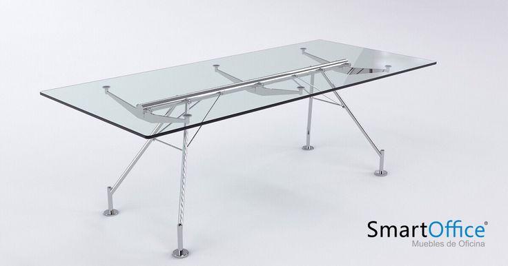 ▪️Escritorio Hi-Tech. ▪️Estructura cromada y de vidrio, una solución sobria y elegante de alto nivel. ________________ #diseño #mueble #art