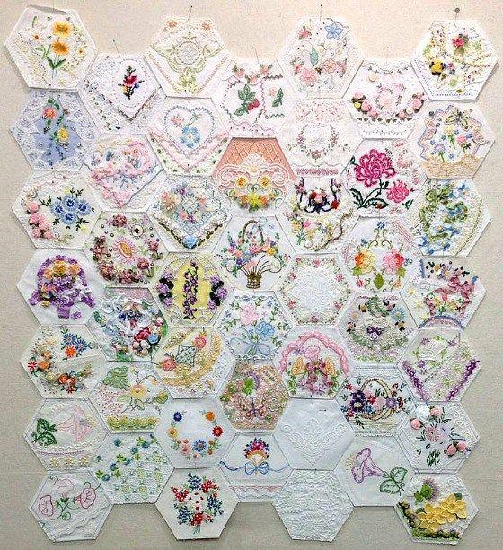 modflowers: Rhonda's hexie quilt