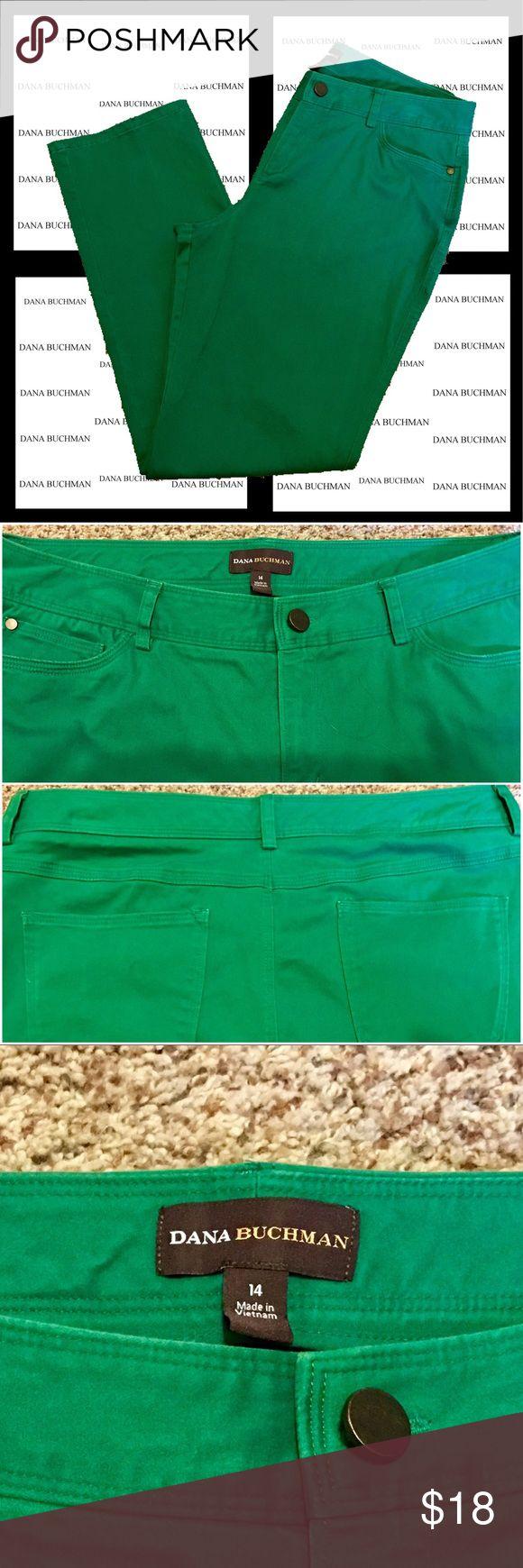 Dana Bachman Kelly Green Pants A darker kelly green SOFT khaki pants. They do have some stretch. EUC. 97% cotton, 3% spandex. Dana Buchman Pants