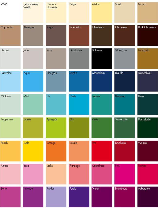 Farbskala  die schnsten Farben fr Ihre