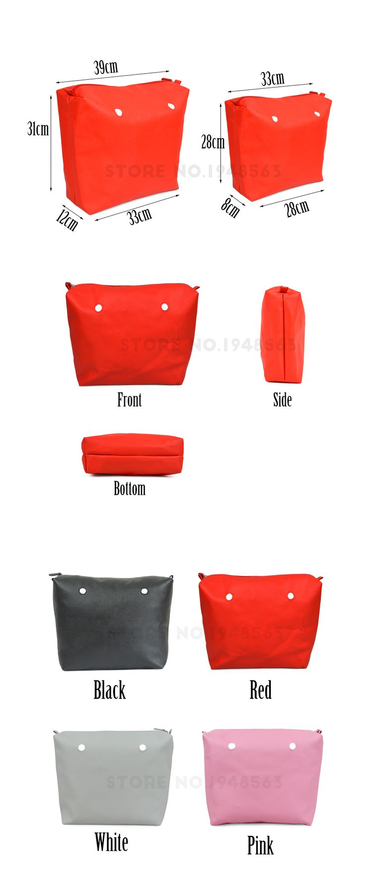 New Colors Obag Waterproof Inner Lining Zipper Pocket for Obag Lining Insert Super Advanced PU Leather for Big Classic O Bag-in Top-Handle Bags from Luggage & Bags on Aliexpress.com | Alibaba Group