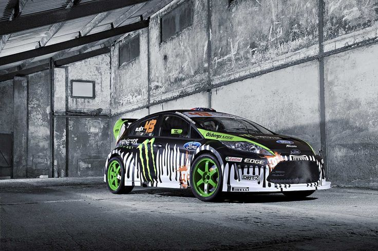 ken block 39 s ford fiesta rally car monster car wrap vehikel graphic cover car wrap. Black Bedroom Furniture Sets. Home Design Ideas