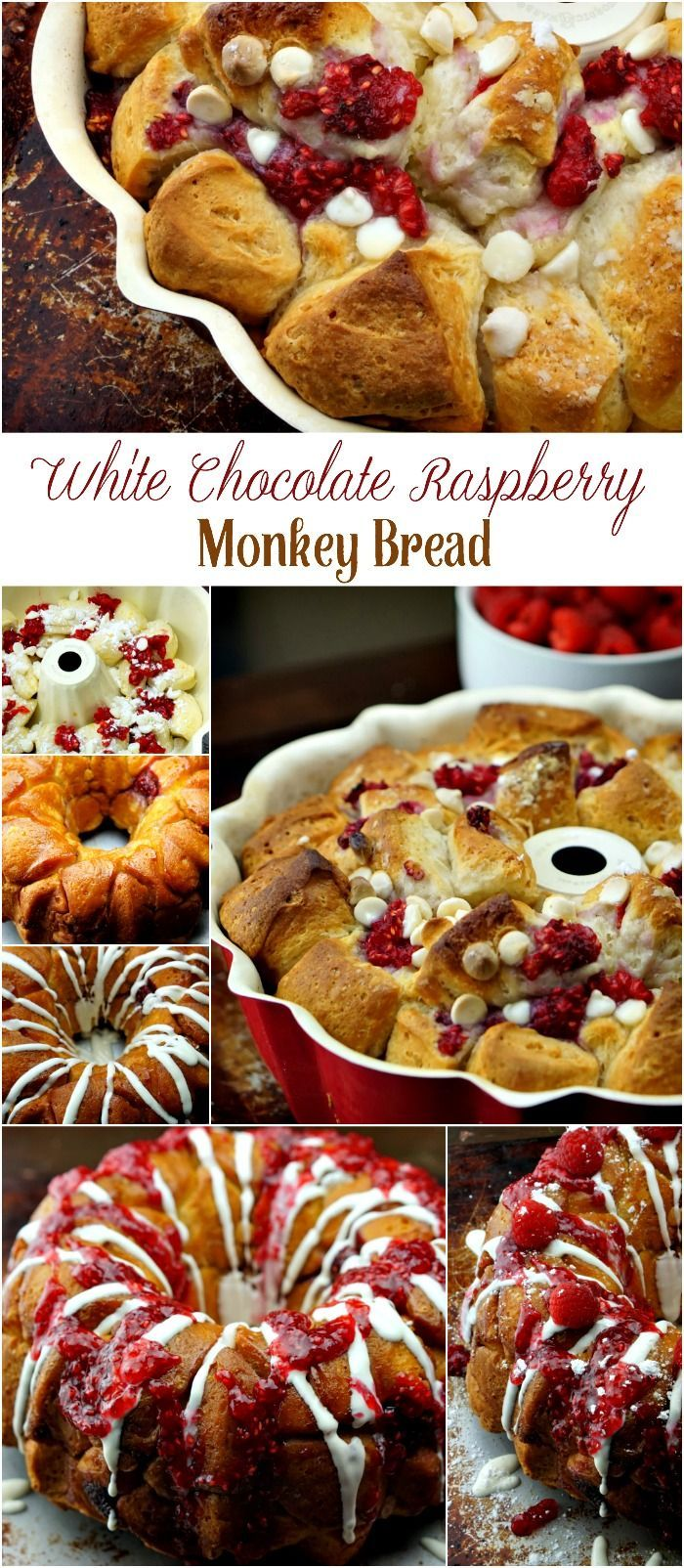 White chocolate raspberry monkey bread recipe