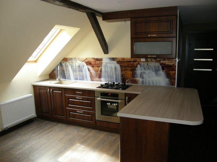 Meble kuchenne - realizacja FILMAR meble www.filmarmeble.pl   #meblekuchenne #kuchnia #nawymiar #klasyczna #fotolabel #poddasze #kuchnianapoddaszu