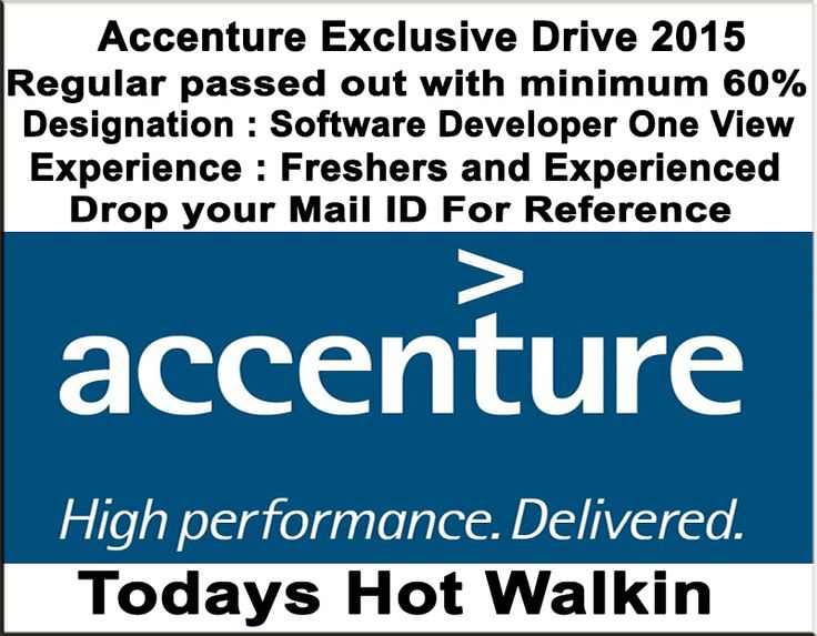 Accenture Exclusive Drive 2015 for 2013,2014,2015 Passout