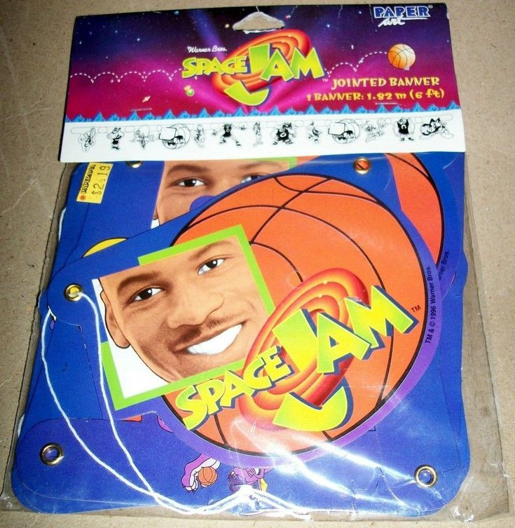 Looney Tunes Space Jam Michael Jordan Party Supplies 6 Jointed Banner MIP