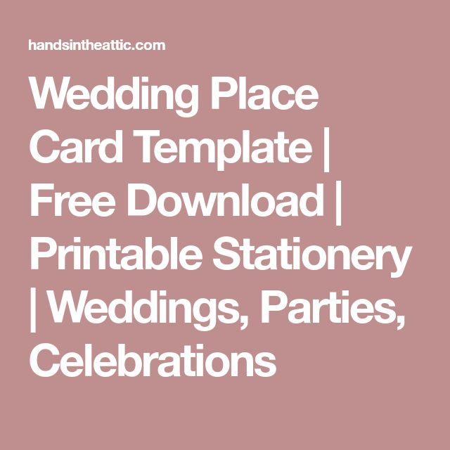 The 25+ best Free place card template ideas on Pinterest DIY - place card template