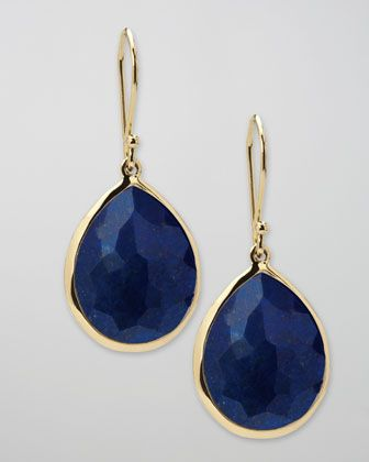 Lapis Teardrop Earrings, Medium by Ippolita at Neiman Marcus.