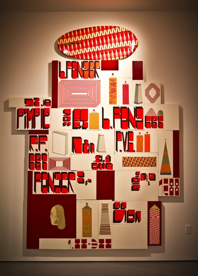 Barry Mcgee Red White Maroon