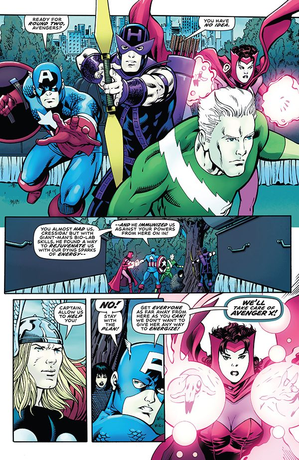 So, the original Avengers showed up after Cressida beat the Kooky quartet and scared her off. They then held a fake funeral for the kooky quartet to draw her out, and now the kooky quartet gets pay back