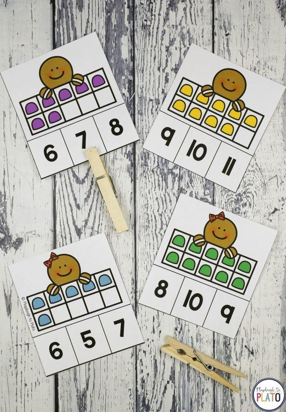13 sweet Gingerbread Activities Gingerbread activitiesare always a hit with kids and this batch ofliteracy and math gamesis no exception. Pre-K and kindergarten students will love the 13 motivating activities includingalphabet puzzles, counting activities, sight word games, graphing sheets, pattern cards, addition and subtraction activities! Perfect way to add some seasonal fun to your literacy centers and math centers! #holidaymathcenters #gingerbreadkindergarten #playdoughtoplato