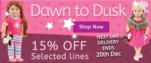 Shop amazing deals online and get next day delivery before the 20th December.