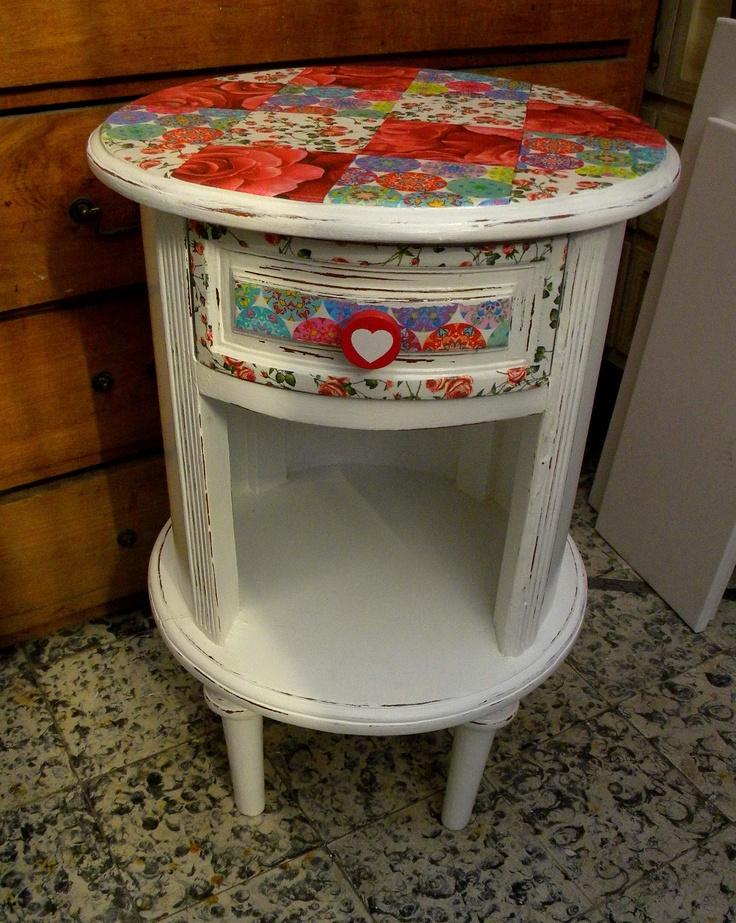 Mueble redondo muebles originales y reciclados pinterest - Muebles originales reciclados ...