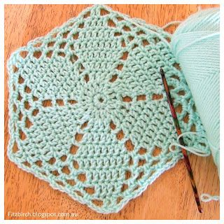 5 free crochet hexagon patterns - Fitzbirch Crafts